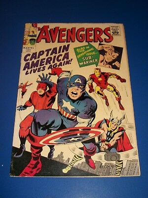 Avengers #4 Golden Record Reprint Silver Age 1st Captain America Wow