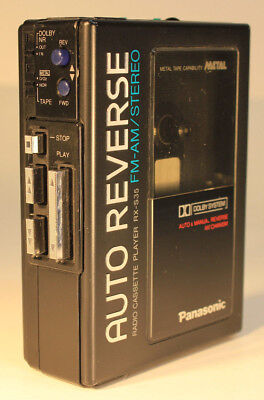 Panasonic RX-S35 AM/FM Stereo Auto Reverse Dolby Cassette Walkman - Works Great-