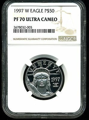 1997-W P$50 Proof Platinum American Eagle PF70 Ultra Cameo NGC 2678032-003