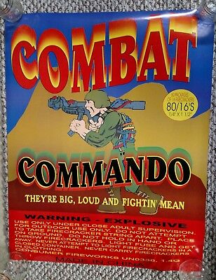 COMBAT FIREWORKS PROMO POSTER 4th of July Firecracker Promotional