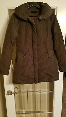 e6098cf148e Steve Madden Womens Brown Winter Quilted Puffer Coat Outerwear Size Small