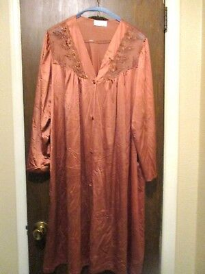 Vintage Vanity Fair Bronze Silky Material Nightgown Or Robe Size 3X