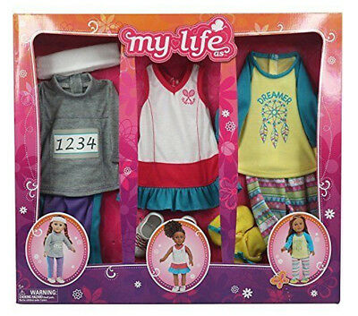 """MY LIFE AS Sports Girl 3 outfit clothing set for 18"""" dolls"""