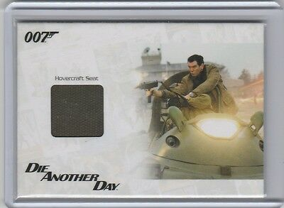 2014 James Bond Archives Relics #jbr37 Die Another Day Hovercraft Seat 040/500