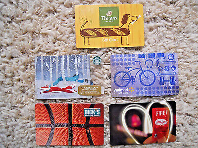Gift Cards, Collectible, five cards, new, unused, no value on the cards     (OE)