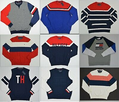 NWT Men's Tommy Hilfiger Pullover Sweater Most  Sizes Listing 1 Sizes  XS - 3XL