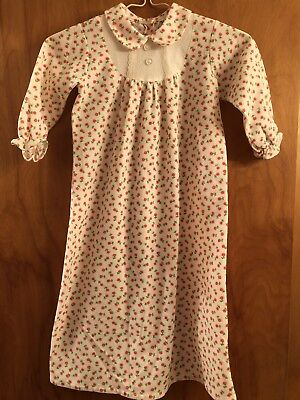 Vintage 1970's Children's Flannel Pajamas With Flowers