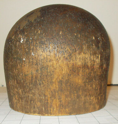 VINTAGE WOOD WOODEN MILLINERY HAT BLOCK MOLD FORM 778 SIZE 21 or 21-1/2