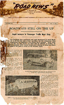 Ansett Roadways ROAD NEWS  COMPLETE  1942 to 1945 Digital Copy on Micro SD