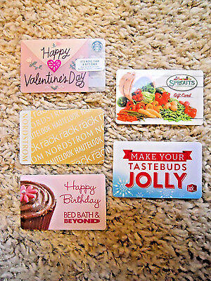 Collectible Gift Cards, five new cards, no value on cards             (E-4)