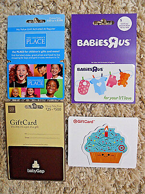 Gift Cards, Collectible, with backing, new, unused, no value on the cards   (PV)