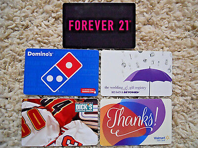 Gift Cards, Collectible, five cards, new, unused, no value on the cards     (UB)