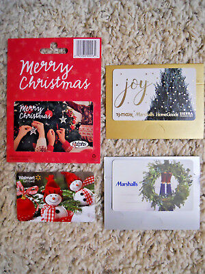 Gift Cards, Collectible, unused, new,  with backing, no value on the cards  (WK)