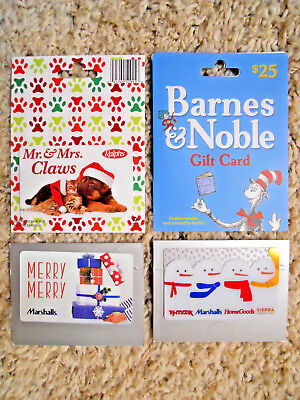 Gift Cards, Collectible, unused, new cards with backing, no value on cards  (WO)