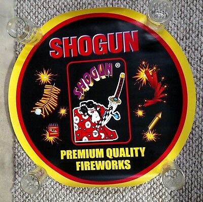 Shogun ROUND! FIREWORKS PROMO POSTER 4th of July Firecracker Promotional