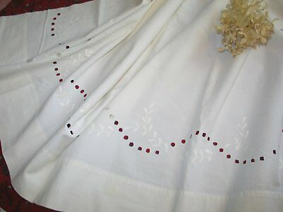 Antique Hand Embroidered Coverlet-Bed Sheet-Quilt Cover Padded Hand Embroidery