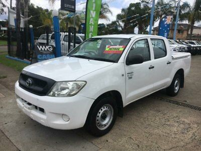 2008 Toyota Hilux TGN16R Workmate White Automatic A Utility