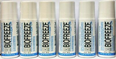 6 Pack - Biofreeze 3 Oz Roll On Gel (Exp 2021) Eu Packaging 3.5% Menthol