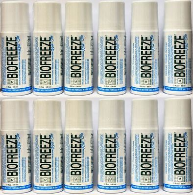 12 Pack - Biofreeze 3 Oz Roll On Gel (Exp 2021) Eu Packaging 3.5% Menthol