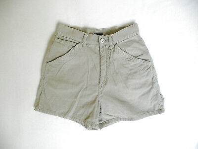 Vintage 90s High-Waist XHILARATION 100% Cotton Khaki Corduroy Shorts {Size 3]