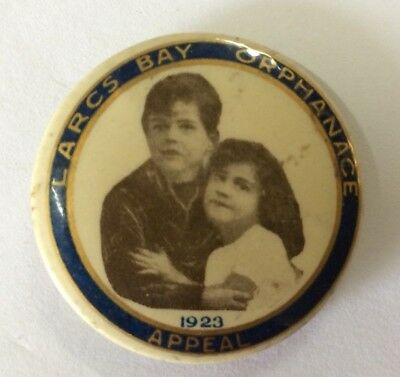 1923 Largs Bay Orphanage Appeal Button Badge Adelaide