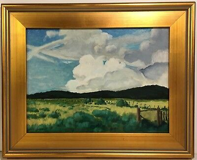 HENRY WOODY LINDENMEYR 20th c. American LANDSCAPE PAINTING Saguache Valley CO