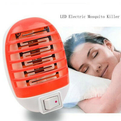 LED Electric Mosquito Fly Pest Bug Insect Trap Zapper Killer Light Night Lamp