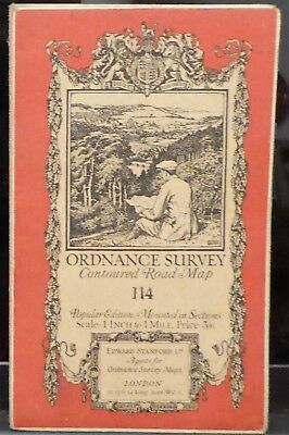 "WINDSOR 1920 Vintage Ordnance Survey Popular Edition 1"" Map Sheet 114"