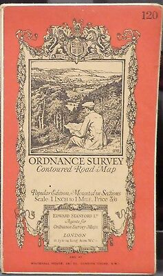 "BRIDGWATER 1926 Vintage Ordnance Survey Popular Edition 1"" Map Sheet 120"