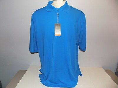 277e4f97 Beverly Hills Polo Club Mens Athletic Performance Polo Shirt Size 2XLT Blue