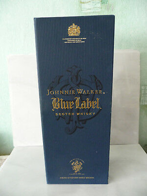 Johnnie Walker Blue Label Scotch whisky paper EMPTY box used rare