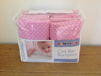 Cot Bar Bumpers Hippychick, Pink Spots & Stripes