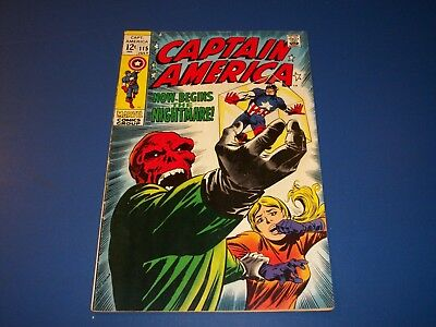 Captain America #115 Silver Age Solid VG+ Red Skull