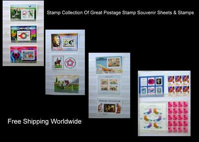 A Great Stamp Collection Of Postage Stamp Souvenir Sheets & Stamps