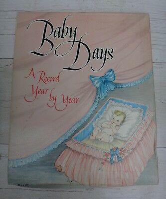 Vintage 1960's Baby Record Book Blue Boxed Unused