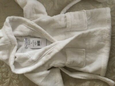 The little White Company cotton baby robe/ dressing gown 6-12 months