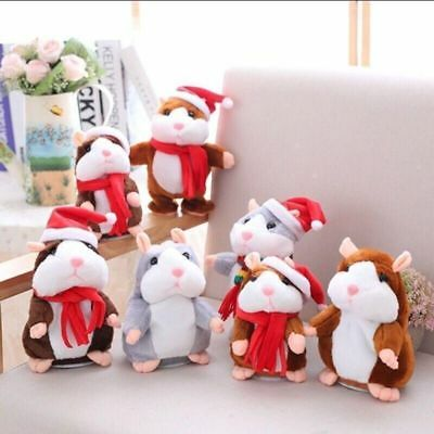 Cheeky Hamster Talking Mouse Pet Christmas Toy Speak Sound Record Plush Gift