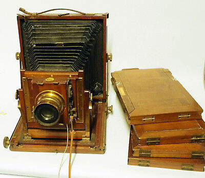 THORNTON PICKARD and JH SQUIRE   vintage plate camera cc1900