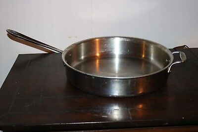 All Clad 5 Quart Stainless Steel Saute Pan