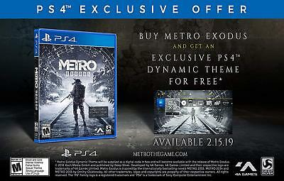 Metro Exodus Day 1 One Edition with Bonus DLC (PlayStation 4) BRAND NEW ps4