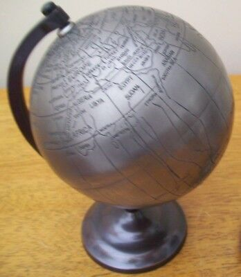 Small Heavy metal Desk Globe great condition