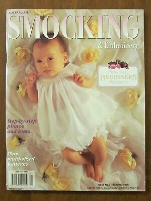 Australian Smocking & Embroidery - Issue #31 Summer 1995 Exc Uncut Patterns