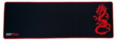SwiftGaming Keyboard and Mouse Pad Mat Extended Red and Black