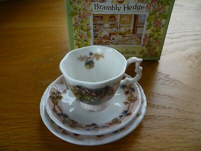 Royal Doulton Brambly Hedge Autumn Miniature Cup/Saucer/Plate Boxed