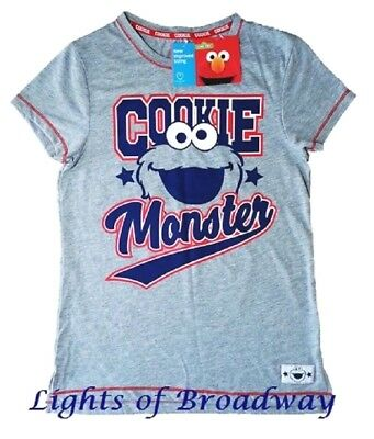 e032be301ca33 Primark Sesame Street Cookie Monster T shirt Pyjamas Pajamas Ladies Girls  NEW