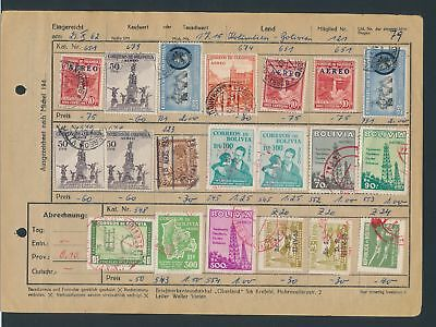 XB35091 Colombia Bolivia nice lot of good old stamps used