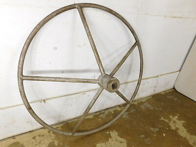 Antique c1929 Oil Refinery Industrial Valve Handle Wheel Cast Iron Art - 2 AVAIL