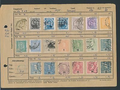 XB35201 Portugal nice lot of good old stamps used