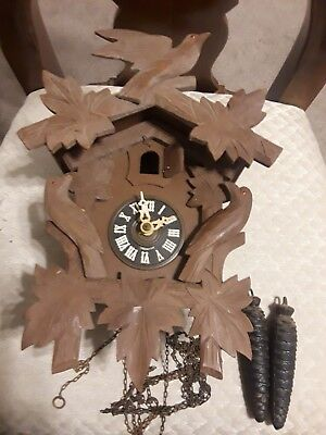 vtg Antique West Germany Black Forest Cuckoo Clock for Parts