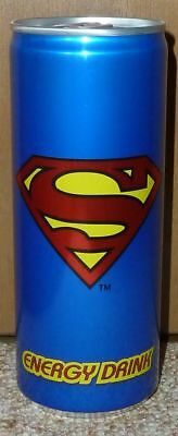 rare SUPERMAN Energy Drink soda can GERMANY cans